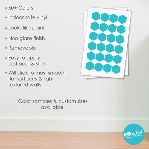 ... Hexagon Wall Decals ...