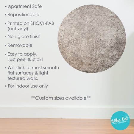 Distressed Gray Concrete Polka Dot Wall Stickers