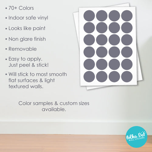 Three Inch Polka Dot Wall Decals Peel Stick Polka Dot - How to make vinyl decals stick to textured walls