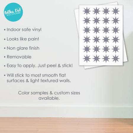 8 Point Star wall decals by Polka Dot Wall Stickers