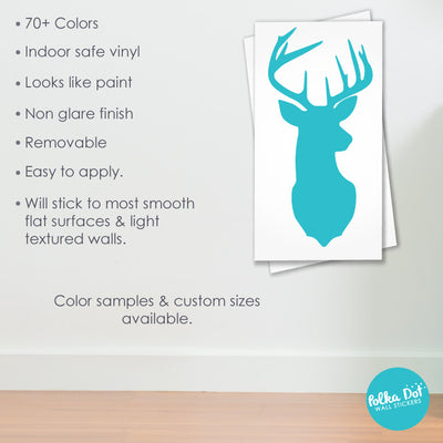 Metallic Gold Deer Head Wall Decals by Polka Dot Wall Stickers