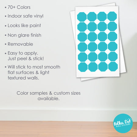 Octagon wall decals by Polka Dot Wall Stickers
