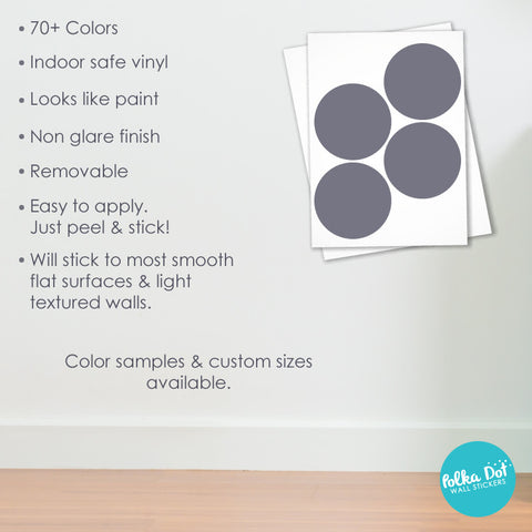 Five Inch Polka Dot Wall Decals Peel  Stick  Polka Dot - How to make vinyl decals stick to textured walls