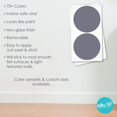 Twelve inch polka dot wall decals by Polka Dot Wall Stickers