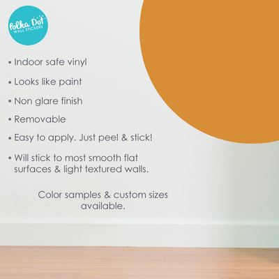 Orange Brown Polka Dot Wall Decals by Polka Dot Wall Stickers