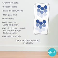 Shades of Facebook Polka Dot Wall Decals