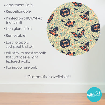 Cute Trick or Treat, Boo! Halloween Wall Stickers