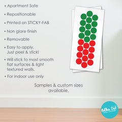 Red and Green Christmas Polka Dot Wall Stickers