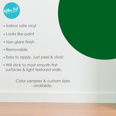 Dark Green Polka Dot Wall Decals