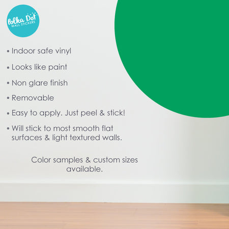 Green Polka Dot Wall Decals