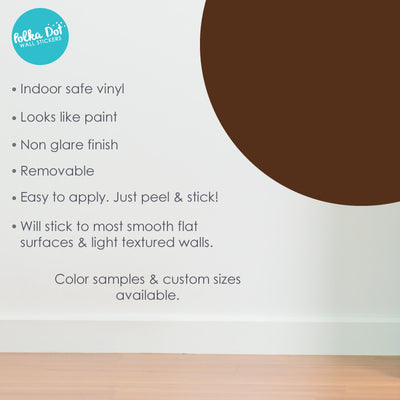 Brown Polka Dot Wall Decals