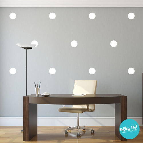 white polka dot wall decals | peel and stick – polka dot wall stickers
