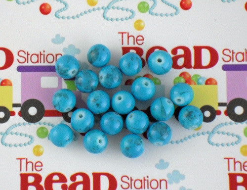 10mm Aqua Mottled Beads