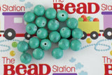 10mm Pastel Teal Mottled Beads