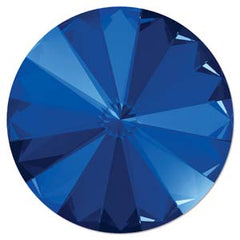 Swarovski 12mm Rivoli Stone ~ Majestic Blue Foiled