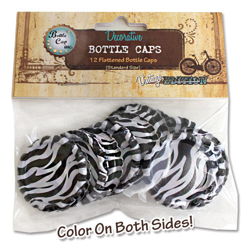 Zebra Patterned Bottlecaps