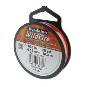 Wildfire Red 0.006 Inch Spool ~ 20 Yard