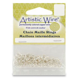 Artistic Wire 18ga ID 5/32 Jump Rings ~ Silver Non Tarnish