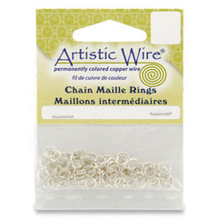 Artistic Wire 18ga ID 11/64 Jump Rings ~ Silver Non Tarnish