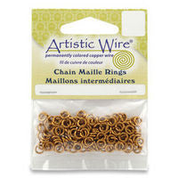 Artistic Wire 18ga ID 15/64 Jump Rings ~ Natural