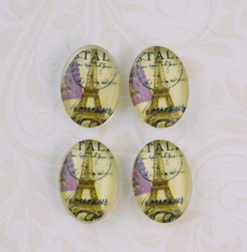 18mm x 13mm Eiffel Tower Cabochon
