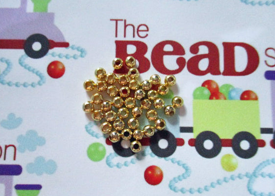 3mm Gold Plated Spacer Beads