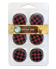 Antique Red Checkered Bottlecaps