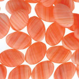 Czech Pressed Ovals 16mmx12mm - Orange Quartz