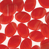 Czech Pressed Ovals 16mmx12mm - Red Quartz