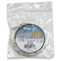 12 Gauge Craft Wire Pro Quality - Non Tarnish Silver