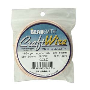 14 Gauge Craft Wire Pro Quality - Non Tarnish Rose Gold