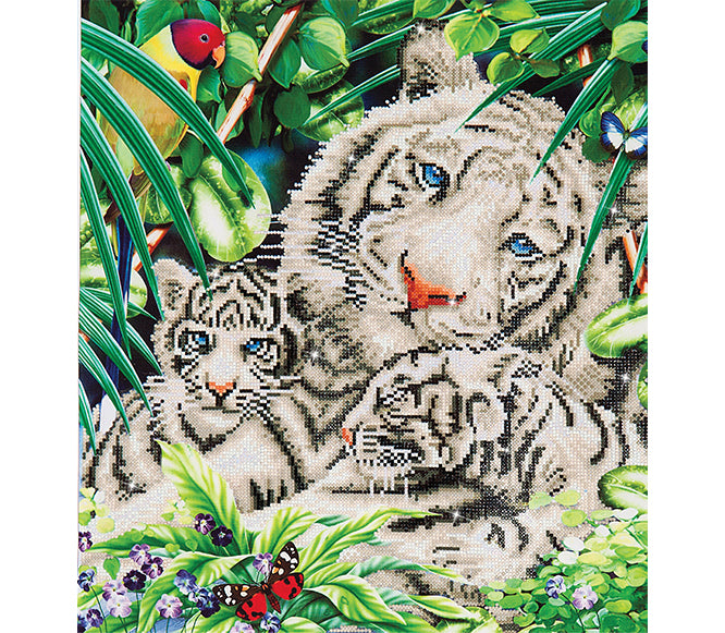 Diamond Dotz - White Tiger & Cubs