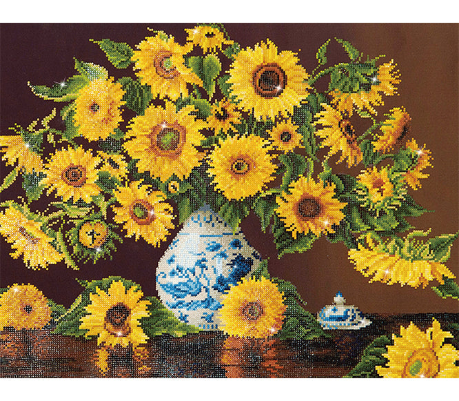 Diamond Dotz - Sunflowers in a China Vase