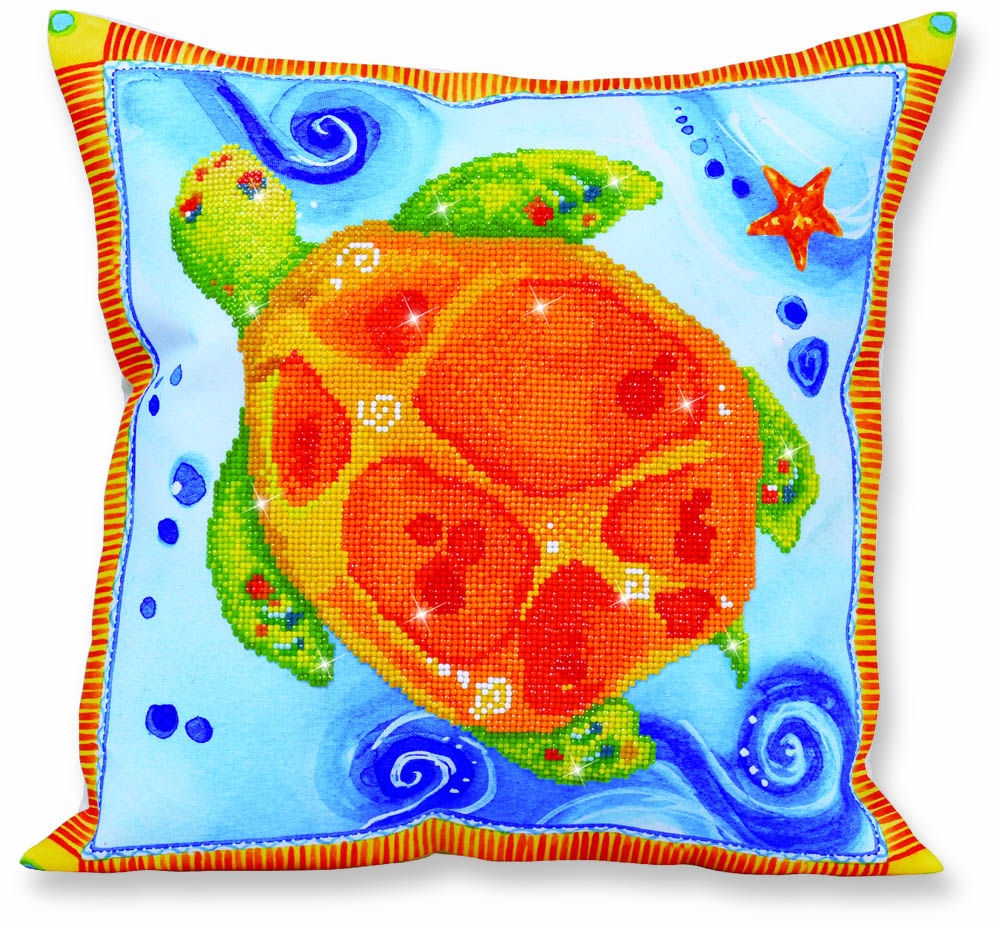 Diamond Dotz Decorative Pillow - Turtle Journey