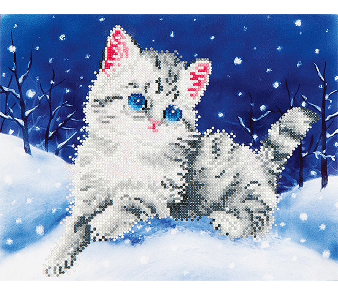Diamond Dotz - Kitten In The Snow