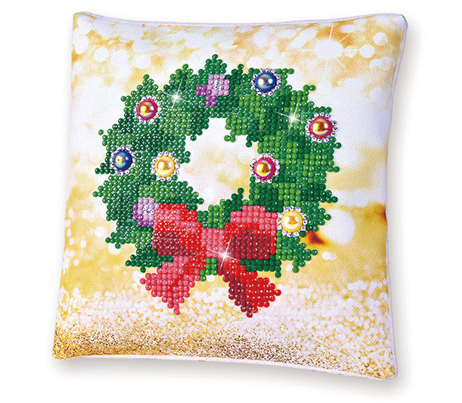 Diamond Dotz Mini Christmas Pillow - Wreath