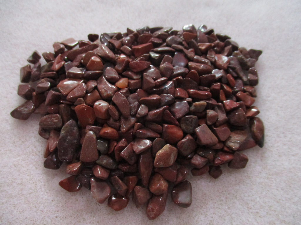 Red Jasper Undrilled Chips