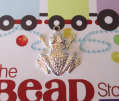 Silver Plated Frog Charm