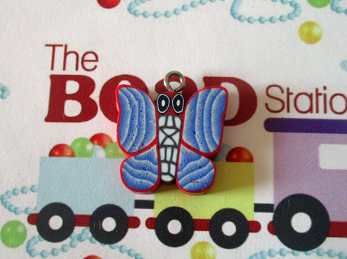 Polymer Clay Butterfly Pendant (Red)