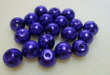 8mm Violet Glass Pearl
