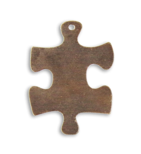 Vintaj Natural 24mm Puzzle Piece Blank