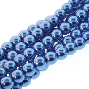 Czech 8mm Persian Blue Pearl