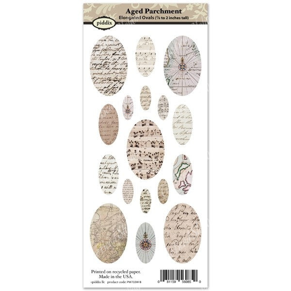 Aged Parchment Elongated Oval Images ~ Piddix