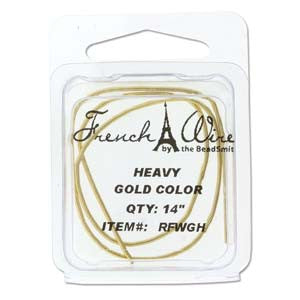 French Wire Gold Colour ~ Heavy (1.1mm)