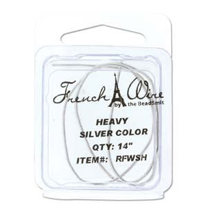 French Wire Silver Colour ~ Heavy (1.1mm)