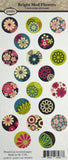 Bright Mod Flowers 1 Inch Circle Images ~ Piddix