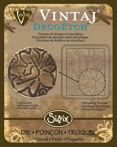 Vintaj DecoEtch Die ~ Botanical Flourish