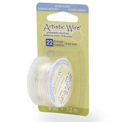 Artistic Wire Pearl Silver 22GA - Dispenser Pack