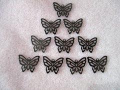 Gunmetal 21x7mm Filigree Butterfly Charms