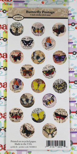 Butterfly Postage 1 Inch Circles Images ~ Piddix